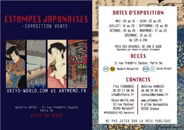 Nouvelle Exposition Galerie Artes Paris